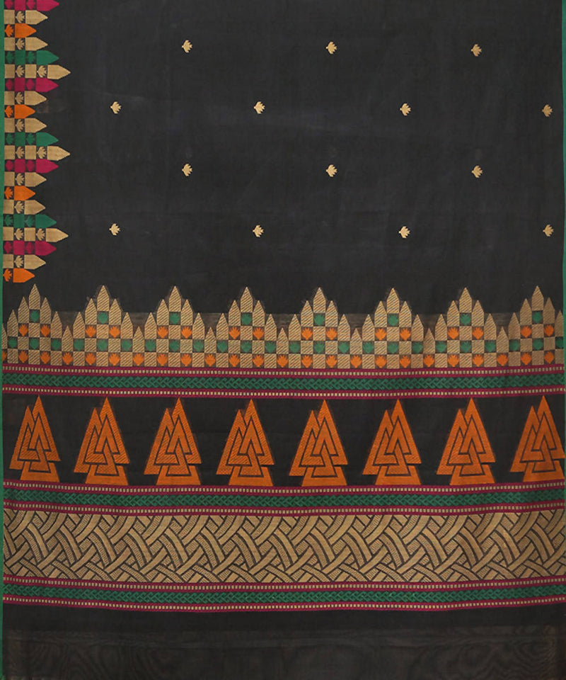 Black Paramakudi cotton handwoven saree