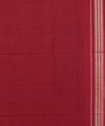 Green and Maroon Sambalpuri Cotton Ikat Saree