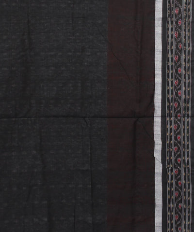 Sambalpuri Grey Black Cotton Handloom Saree