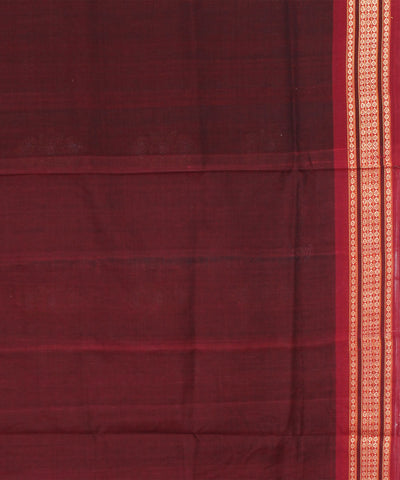 Sambalpuri Olive Maroon Handloom Cotton Saree