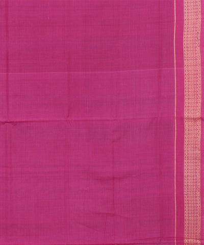 Blue Pink Sambalpuri Handloom Cotton Saree