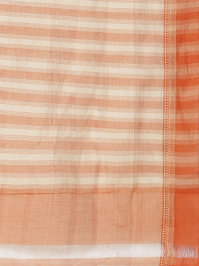 Orange mangalgiri cotton saree