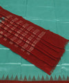 Sea Green Maroon Handwoven Bomkai Silk Saree