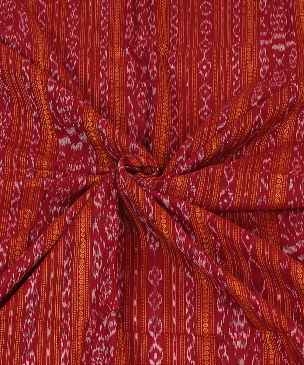 Nuapatna Handloom Cotton Red Fabric