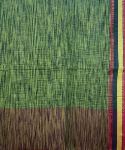 Yellow Black Handspun Handloom Tie Dye Cotton Saree