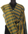 Handloom Yellow and Grey Cotton Dupatta