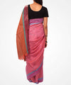 Handwoven Multicolor Pink Shade Linen Saree