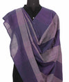 Handwoven Grey And Aegean Cotton Dupatta