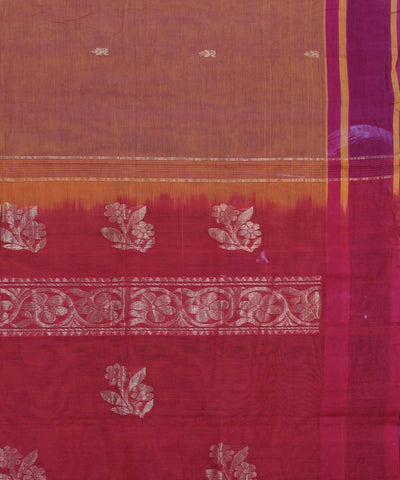Mustard Handloom South Kanchi Cotton Saree