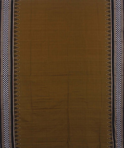 Mehendi Green Black Handloom Sambalpuri Saree