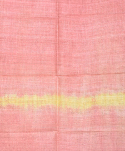 Salmon Pink and Yellow Assam Silk Stole