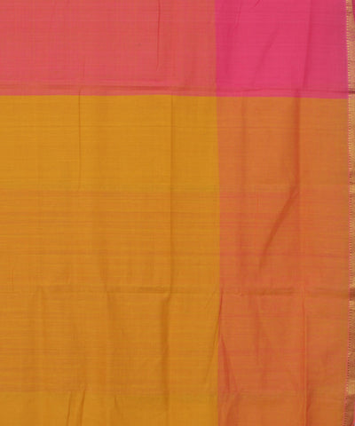 Pink Handloom Mangalagiri Cotton Saree