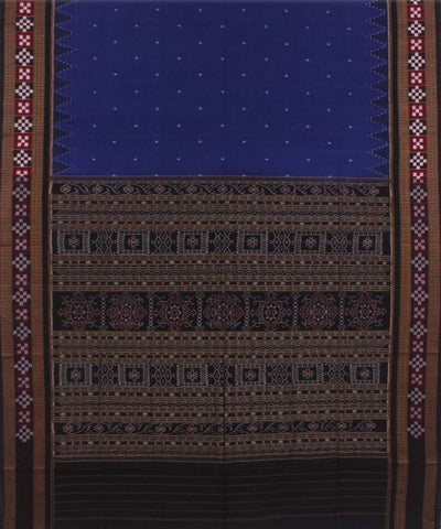Blue Black Sambalpuri Cotton Handloom Saree