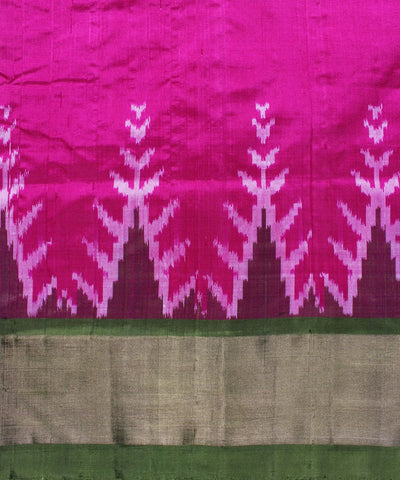 Purple Pink Handloom Ikat Rajkot Silk Saree