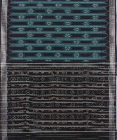 Green Black Sambalpuri Handloom Cotton Saree