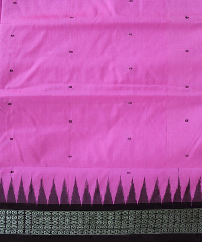 Handwoven Bomkai Silk Saree of Sonepur in Hot Pink and Antique Ruby
