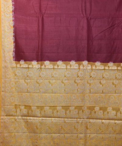 Banarasi Plum Purple Handloom Silk Saree