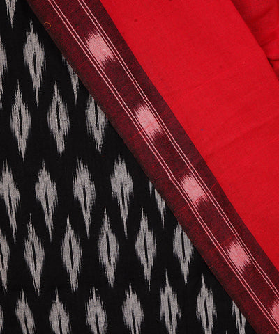 Handwoven Red Black Ikkat Cotton Suit Set