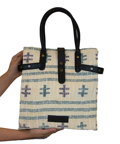 White Handwoven Cotton Hand Bag