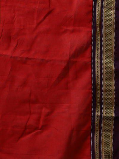 Peach ilkal handloom cotton saree