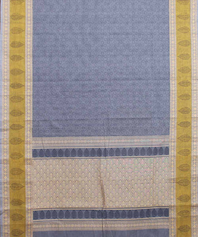 Grey Handwoven Paramakudi Cotton Saree