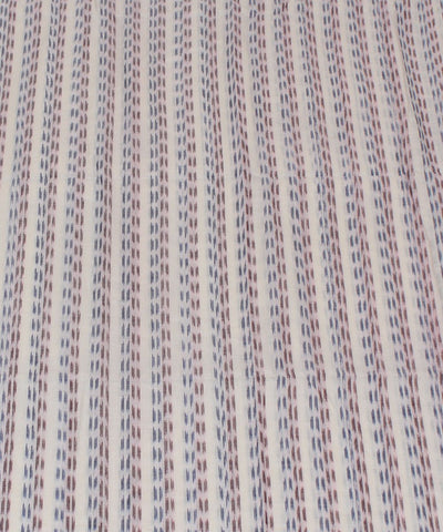 White Stripe Nuapatna Handwoven Cotton Fabric