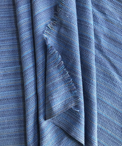 Navy Blue Handwoven Wollen fabric