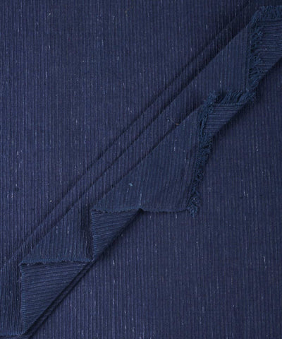 Blue dyed handwoven cotton fabric