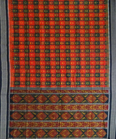 Multicolor Cotton Sambalpuri Handloom Saree