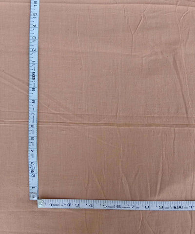 light orange natural dye handspun handwoven Cotton fabric (10m per quantity)