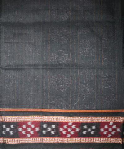 Handwoven Pasapalli Cotton Saree in Green and Black