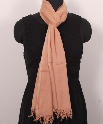 Handwoven Sandstone Cotton Stole
