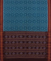 Sambalpuri Blue Maroon Handloom Cotton Saree