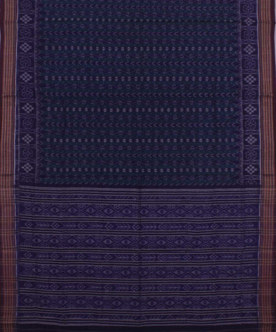Blue Sambalpuri Cotton Ikat Saree
