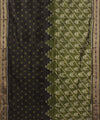 Olive Green Black Handloom Khandua Silk Saree