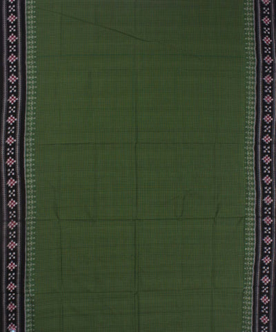 Green Black Border Sakta Sambalpuri Saree