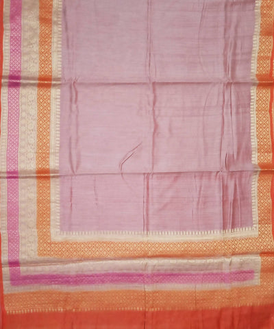 Pink and Orange Banarasi Handloom Silk Saree