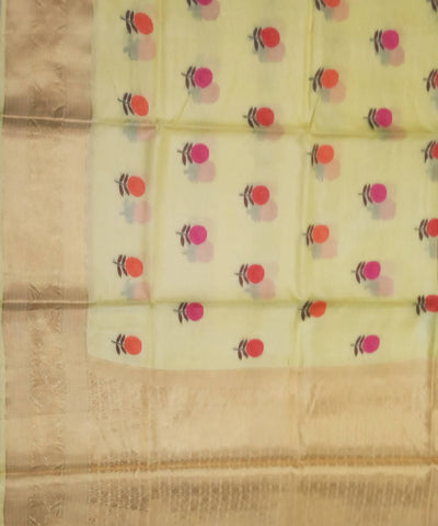 Banarasi Daffodil Yellow Handloom Silk Saree