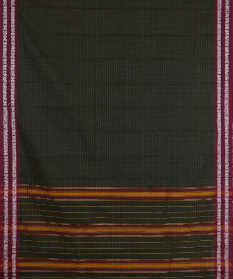 Black Green Handloom Narayanpet Cotton Saree