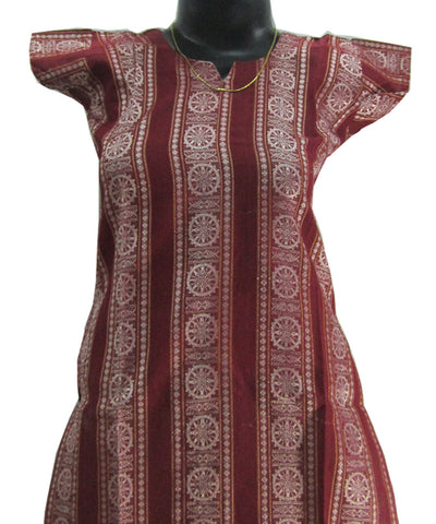 Maroon Traditional Cotton Kurti