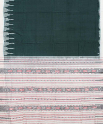 Green White Handloom Sambalpuri Saree