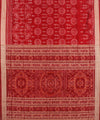 Red Maroon Handwoven Sambalpuri Silk Saree