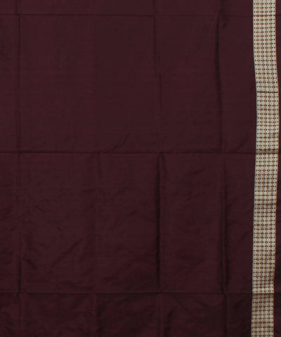 Handwoven Magenta Brown Bomkai Silk Saree