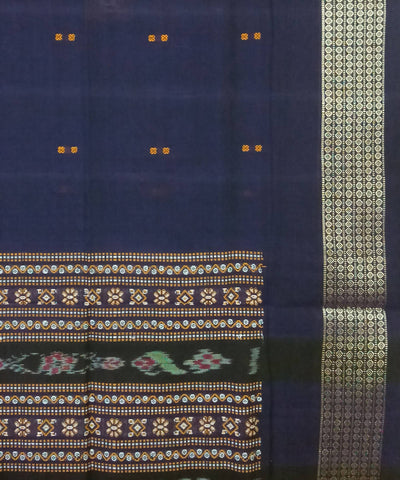 Blue Bomkai Handloom Cotton Saree