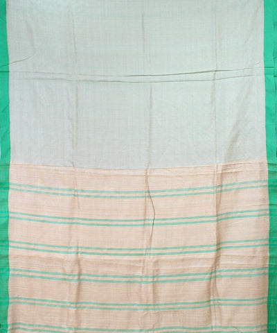 ECOTASAR Light Green Handwoven Tussar Saree