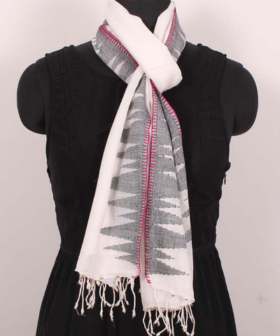 Handwoven Light Pink Cotton Stole