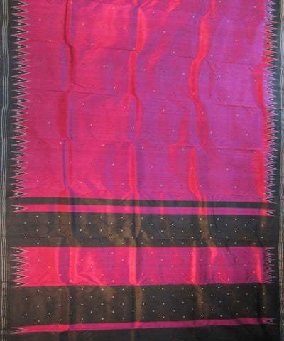 Exclusive Purple and Black Traditional Khandua Ikat Tie & Dye Silk Saree