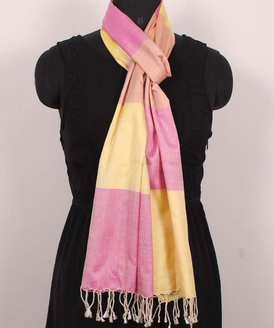 Handwoven Fuschia Pink Cotton Stole