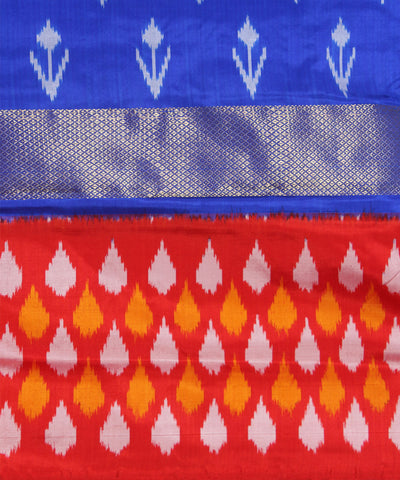 Handloom Ink Blue Pochampally Silk Saree