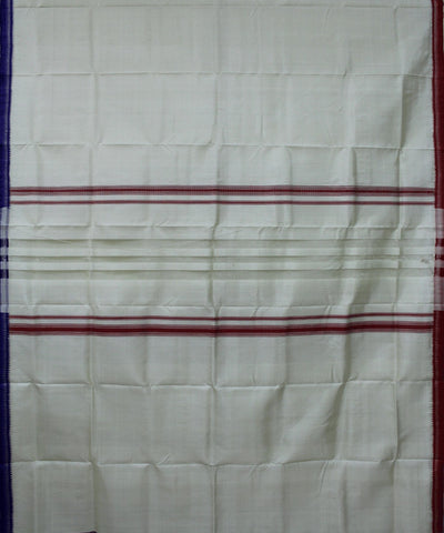 Handwoven Silk Joda of Berhampur in White and Red